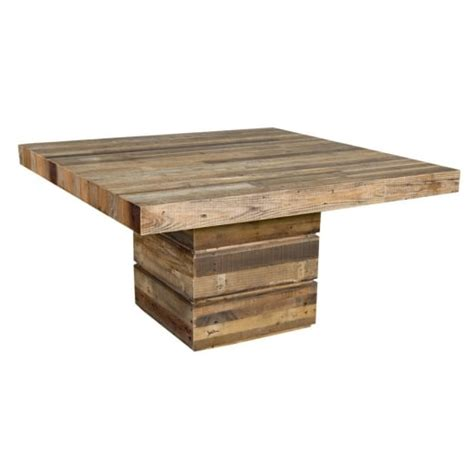 Buy Square Dining Table Buy Tahoe Square Dining Table Chunky Rustic Plank Wood Tables