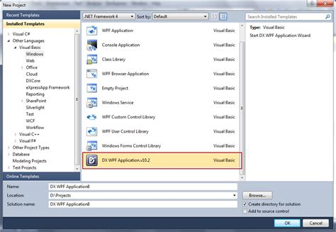 template asp net vb wpf project wizard for vb net coming in v2010 vol 2
