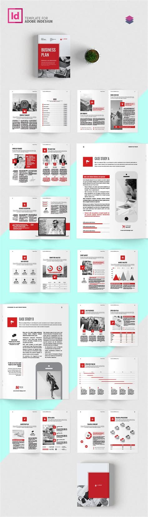 business plan template adobe indesign templates