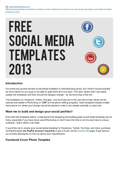 social media template free social media templates 2013 free psd
