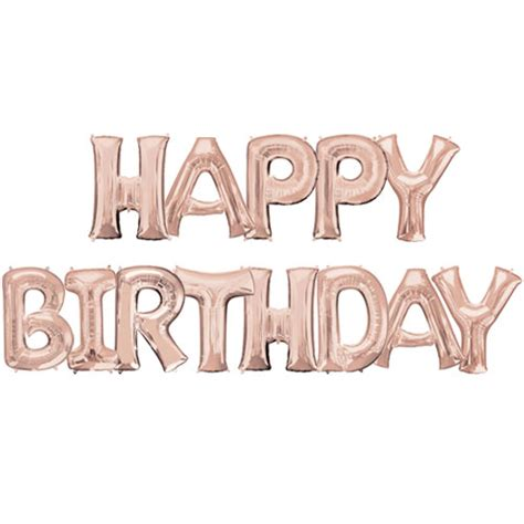 Silver Letters Home Decor by Happy Birthday 34 Inch Rose Gold Foil Letter Balloon