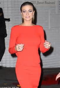 carmen electra carmens oxblood ensemble is all about texture carmen electra shows what caught cowell s eye as she steps