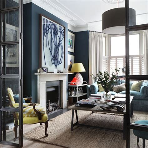 navy blue living room navy living room how to decorate with blue housetohome