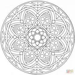 full page coloring mandalas disegno di mandala celtico con fiore da colorare disegni