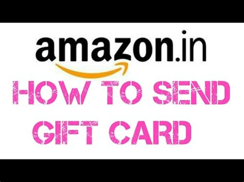 How To Send An Amazon Gift Card By Email - how to send amazon gift card youtube
