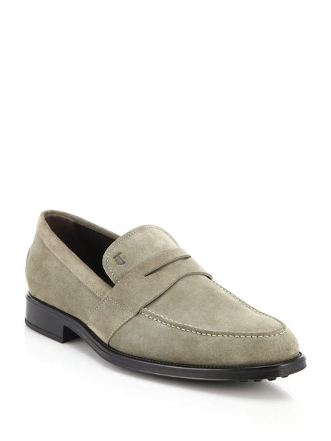 tod loafers for tod s suede loafers in for lyst