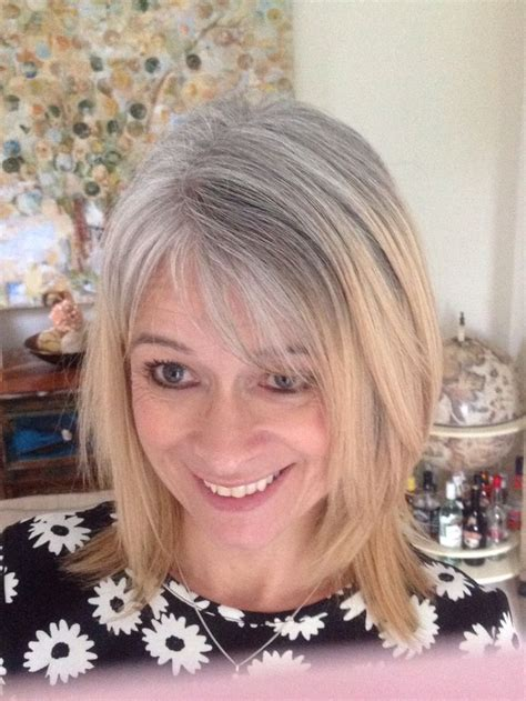 how to grow in gray hair with highlights 17 best images about beautiful silvers on pinterest hair