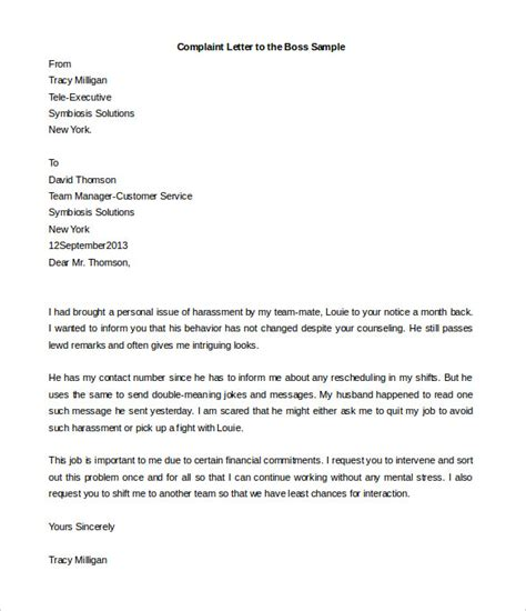 Complaint Letter For Coworker Sle compudocs us new sle resume