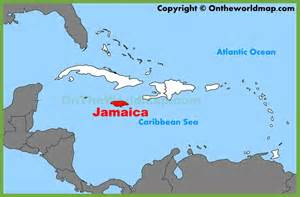 Where Is Jamaica On The Map Of The World by Jamaica Location On The Caribbean Map