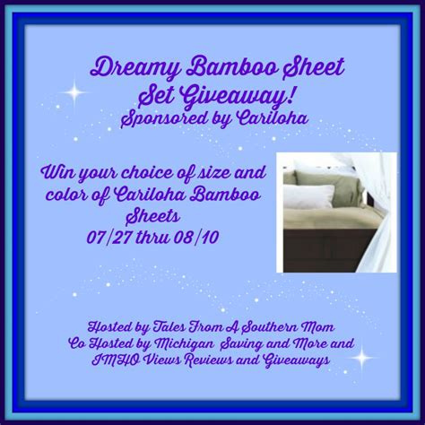 Sheets Giveaway - dreamy bamboo sheet set giveaway us only ends 08 10