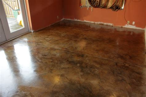 Acid Stained Concrete Floors Home Gym Flooring Over Concrete