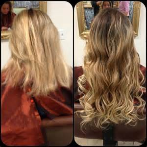 hair extensions before and after before and after micro beads hair extensions yelp