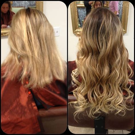 hair extensions ca before and after micro hair extensions yelp