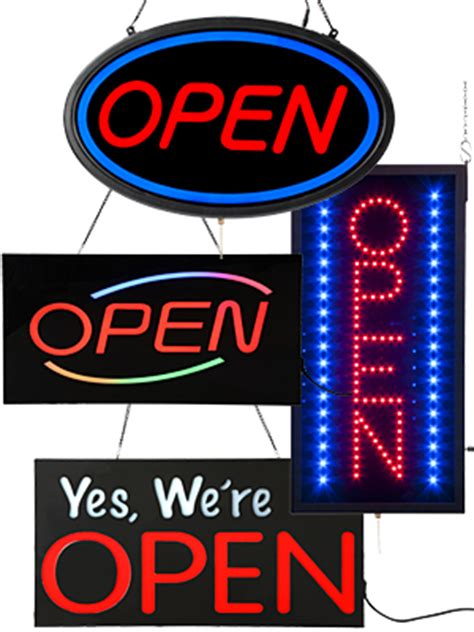 Led Open Closed Signs Window Displays For Retailers