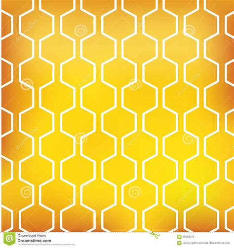 honey pattern vector honey pattern on yellow background stock vector image