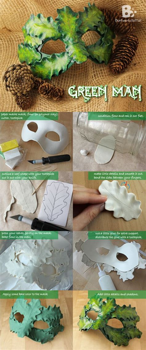 How To Make A Paper Mask Step By Step - easy diy tutorial on how to make a green mask with