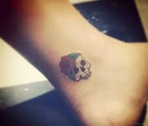 small skull tattoos small skull tattoos on ankle www pixshark images