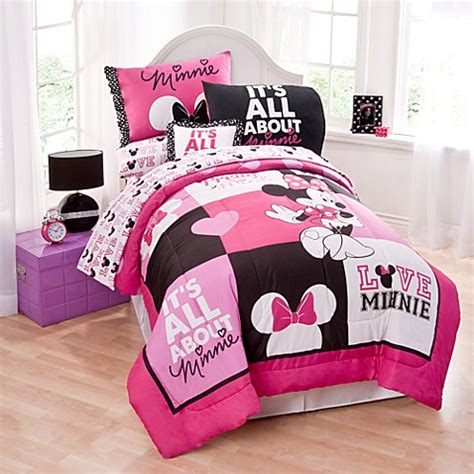 minnie mouse bed set twin disney 174 minnie mouse twin comforter set bed bath beyond