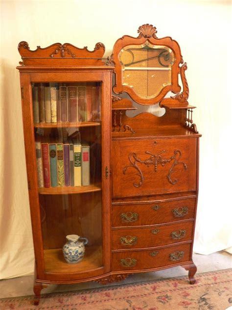 111 Best Victorian Side By Side Secretary Desks Images On Antique Oak Desk With Bookcase