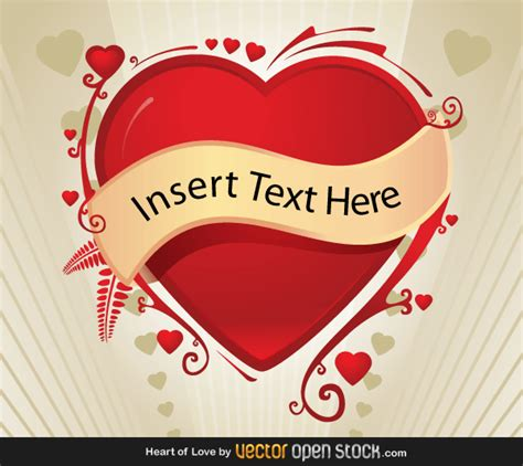 design banner valentine valentines background with red heart banner vector free