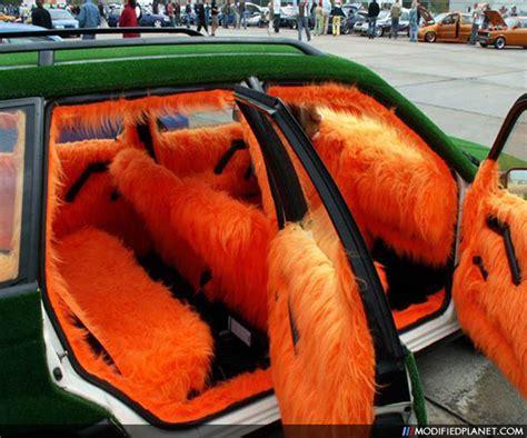 Auto Upholstery Repair Car With Orange Shag Carpet Interior And Astro Turf Exterior