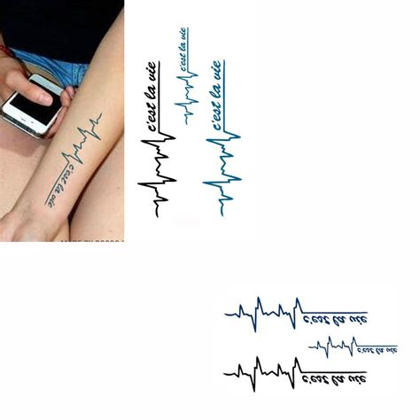 tattoo paper for sale hot sale temporary tattoo sticker electrocardiogram