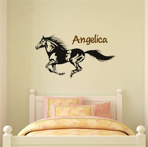 girls bedroom wall decals horse decal name wall decal girls bedroom personalized wall