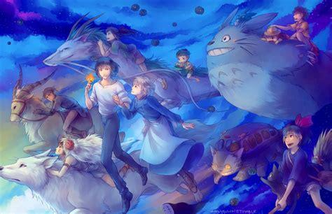 studio ghibli characters animated movies fan art