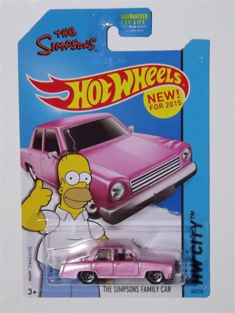 Wheels The Simpsons Pink 2015 wheels the simpsons family car new ebay