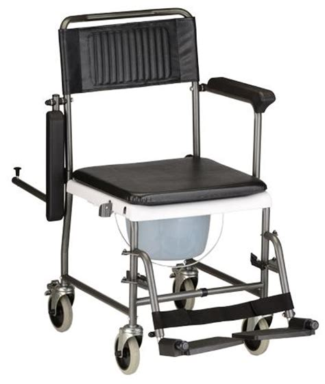 8805 drop arm shower commode wheelchair rolling