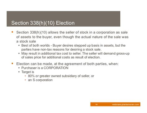 section 338 election 2011 tax update