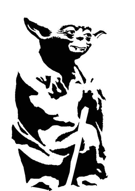 Yoda stencil template | Stencil Templates | Pinterest