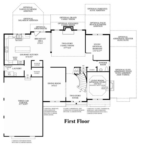 floor plan model greenville overlook the duke home design