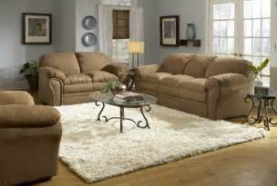 living room brown sofa blue decor