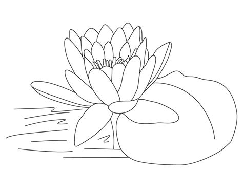 free coloring pages of lotus flower