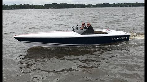 donzi boats top speed 380 hp donzi 22 classic one wake youtube