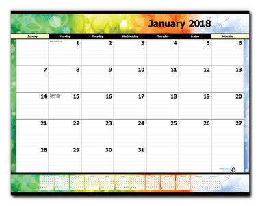 2018 monthly desk pad calendar 12 month desk pad calendar refill january 2018 december