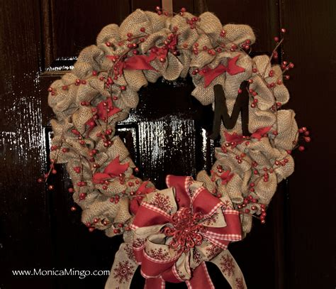 how to make wreaths how to make a burlap wreath for christmas easy and inexpensive youtube
