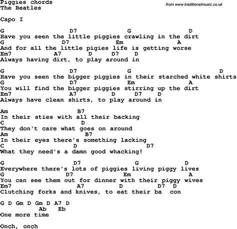 Beatles Guitar Chords And Lyrics