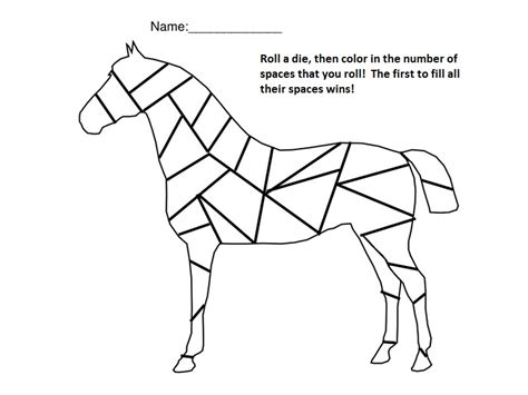 printable horse games 6 best images of printable preschool number games with
