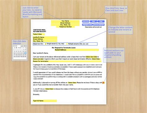 Breaking Lease Letter Breaking A Lease Sle Letter Http Hometitan