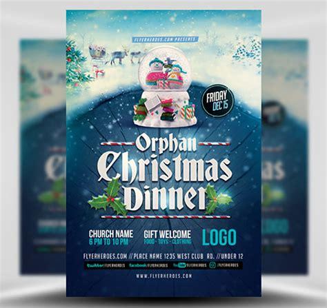 Orphan Christmas Dinner Flyer Template Flyerheroes Dinner Flyer Template