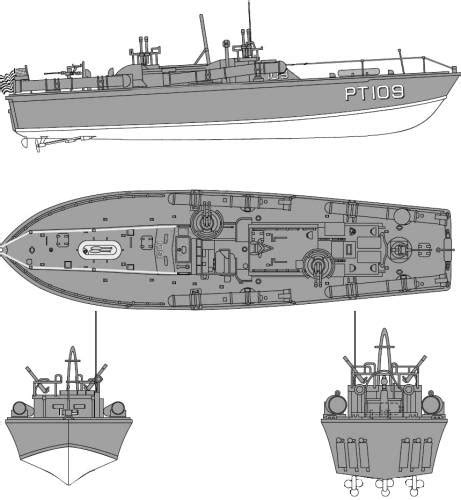 pt boat line drawings blueprints gt ships gt submarines us gt uss pt 109 torpedo