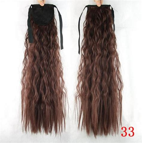 Ekor Kuda Warna Coklat Perak pemegang ekor kuda rambut sintetis ekor kuda tebal rambut ekstensi id produk 60614580029