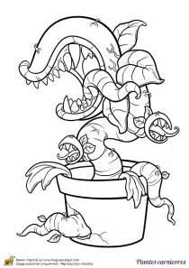 coloriage plante contre zombie