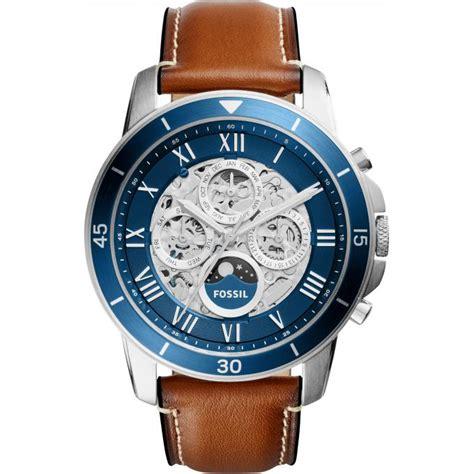 montre fossil automatic me3140 montre automatique cuir squelette homme sur bijourama montre