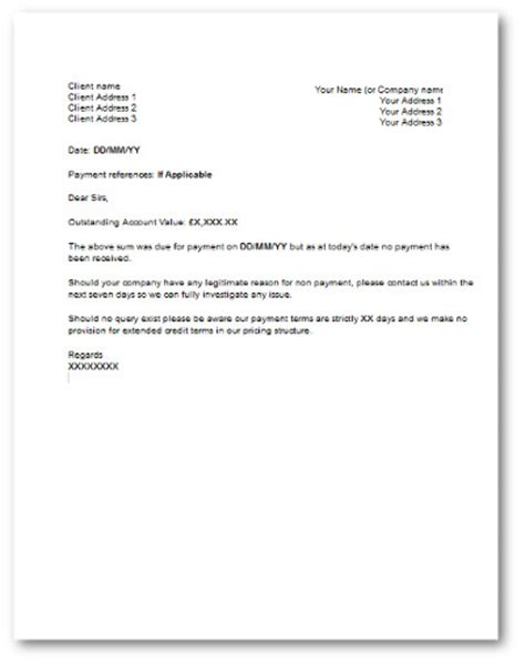 Credit Card Late Payment Letter Get Your Overdue Invoices Paid With These Free Notice Letters