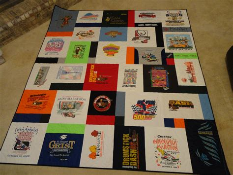 Quilt From T Shirts by T Shirt Quilt Wandalandquilts