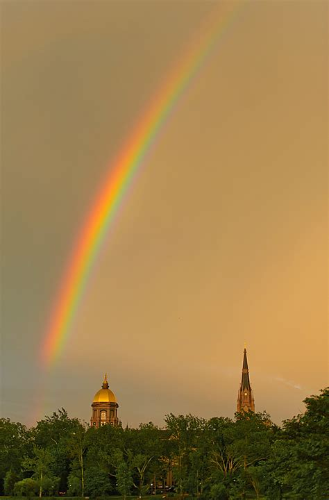 Thunder Rainbow shake the thunder notre dame photography