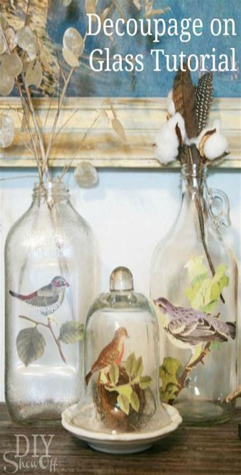 Decoupage On Glass - best 25 decoupage glass ideas on diy